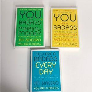 You are a badass 3 book lot series bundle sincero